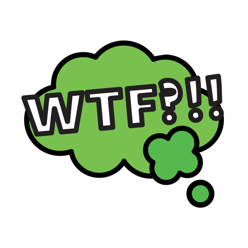Wtf sticker Transparent PNG
