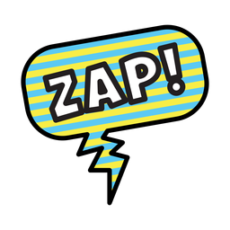 Zap sticker