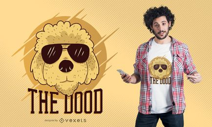 Cooler Goldendoodle Hunde-T-Shirt Design