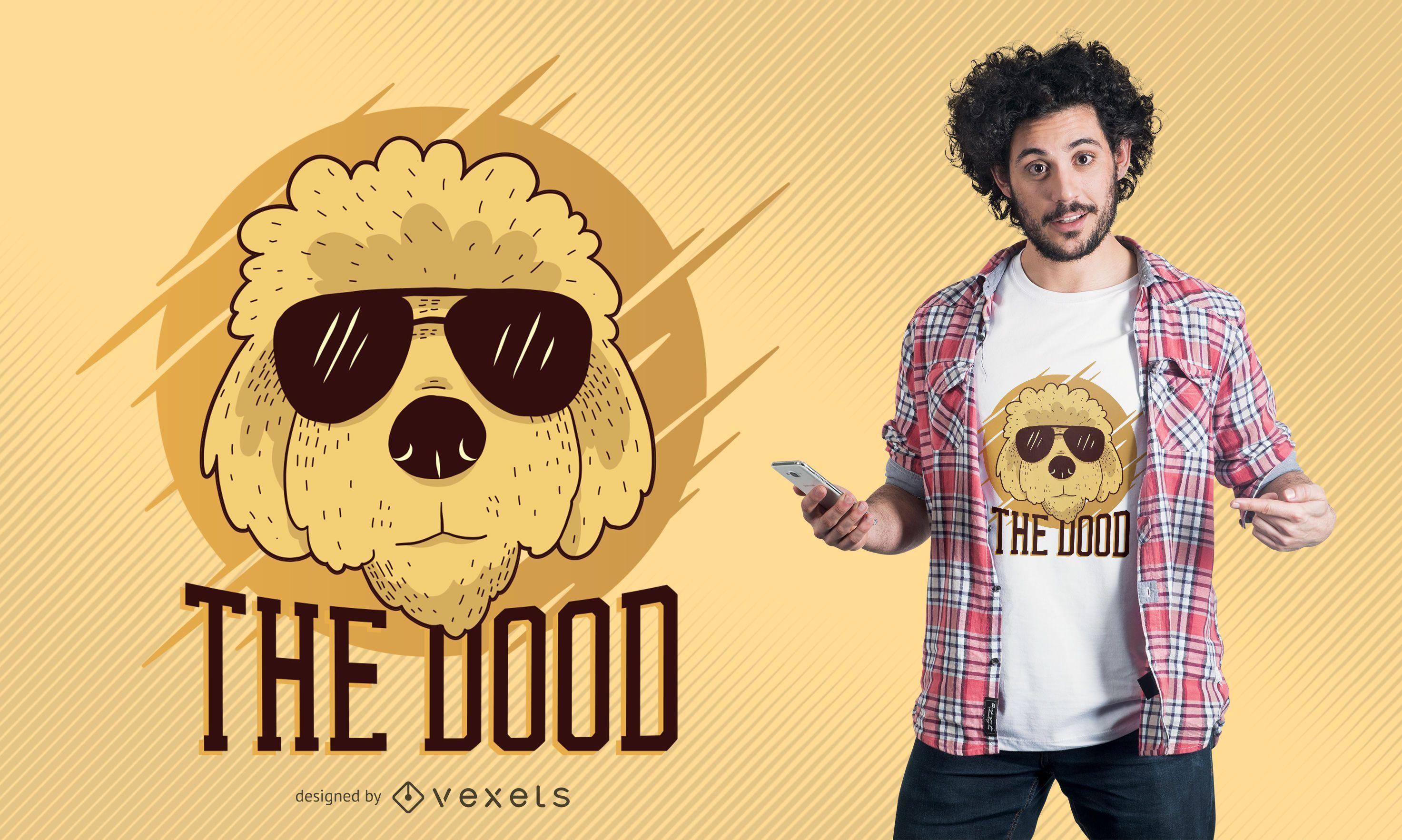 Cool Goldendoodle Dog T-Shirt Design