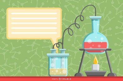 Ilustração de experimento científico