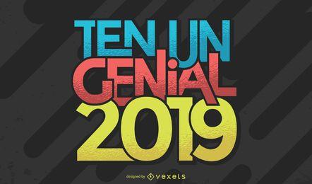 Ten Un Genial 2019 letras en español
