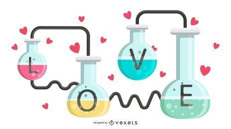 Ilustración de fórmula de amor