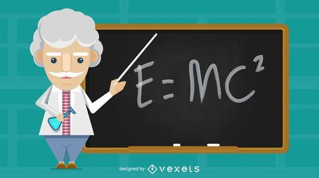 Velho professor de ciências