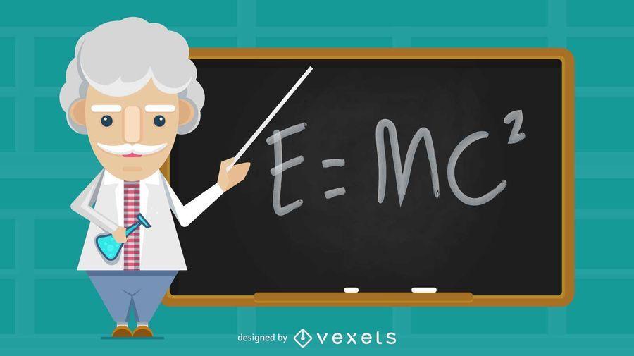 Old Science Teacher Illustration