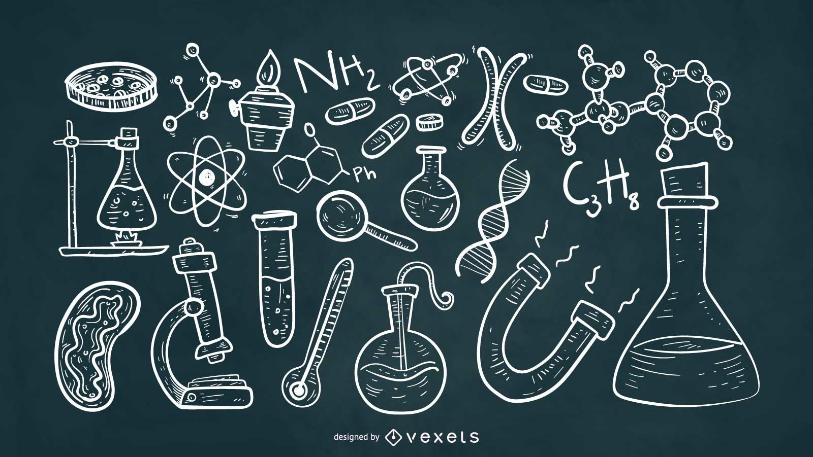 Scientific Elements Chalk Style