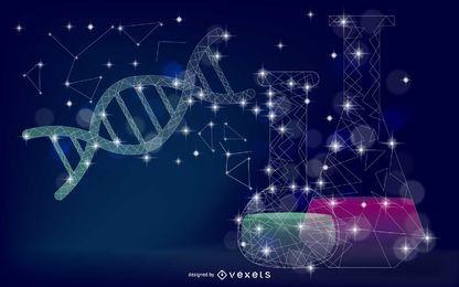 Wissenschaftselement-Konstellations-Illustration