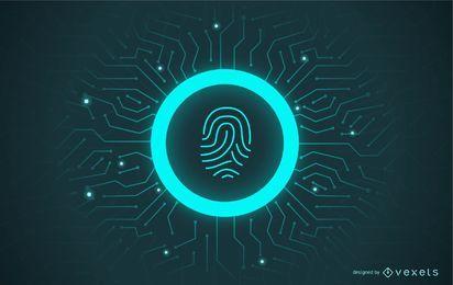Fingerabdruck-Passwort-Illustration