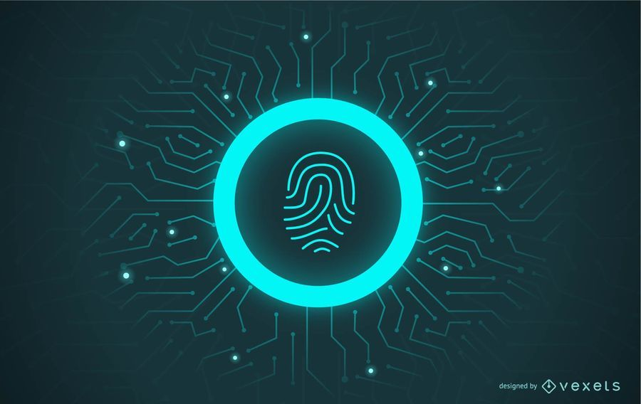 Fingerprint Password Illustration