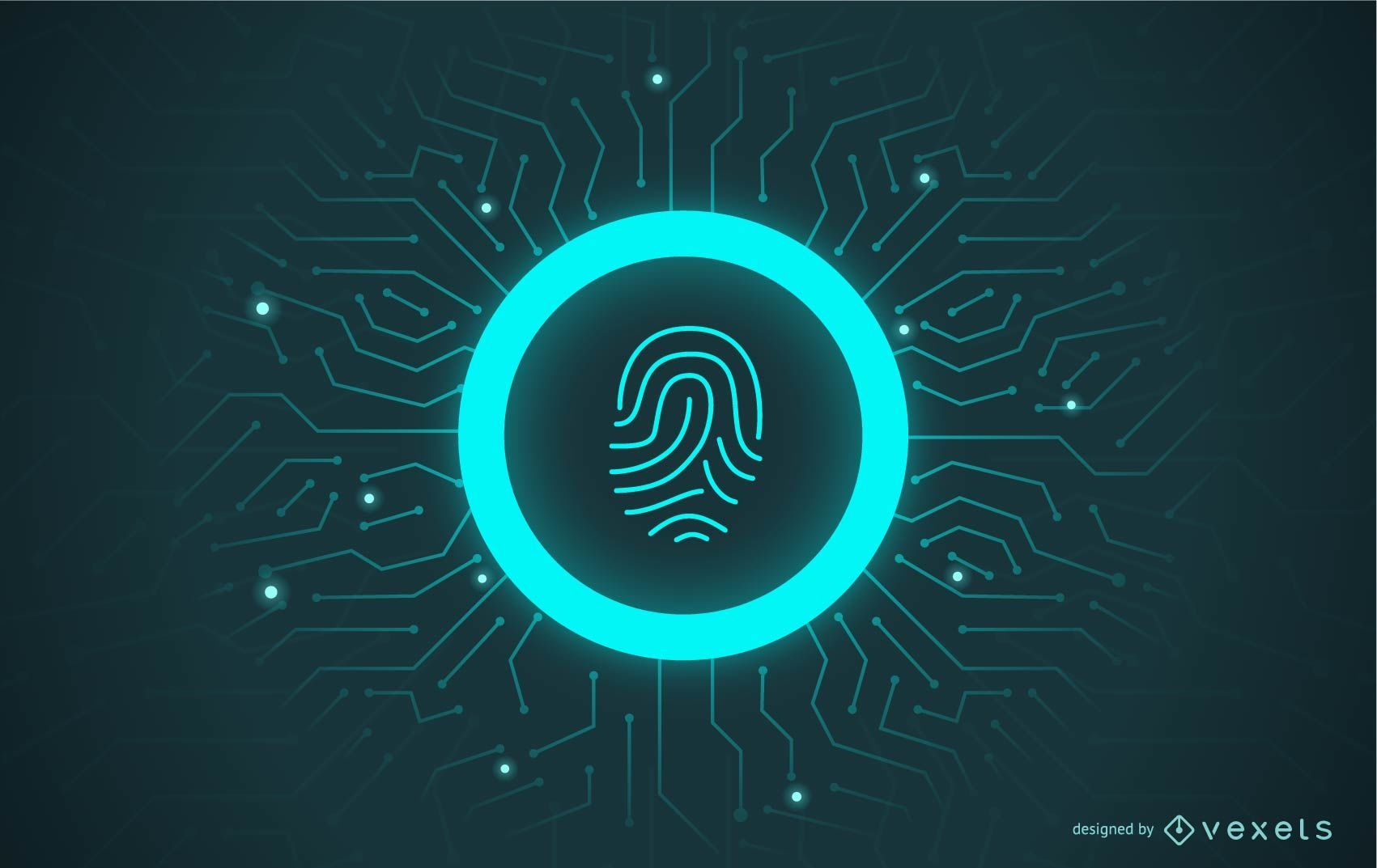Fingerprint Password Illustration