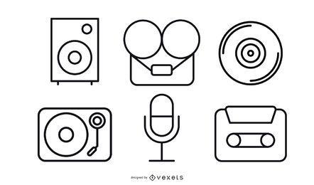 Aufnahme-Vektor-Pack