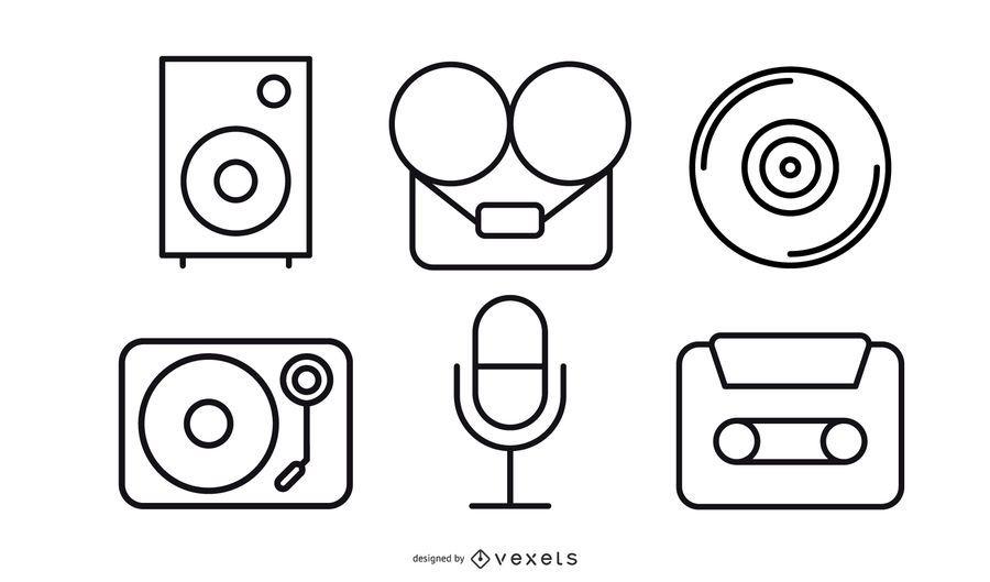 Paquete de grabación de vectores