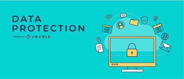 Diseño de banner de protección de datos