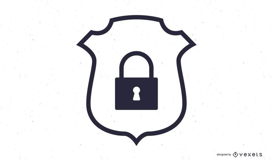 Ícone de crachá de segurança