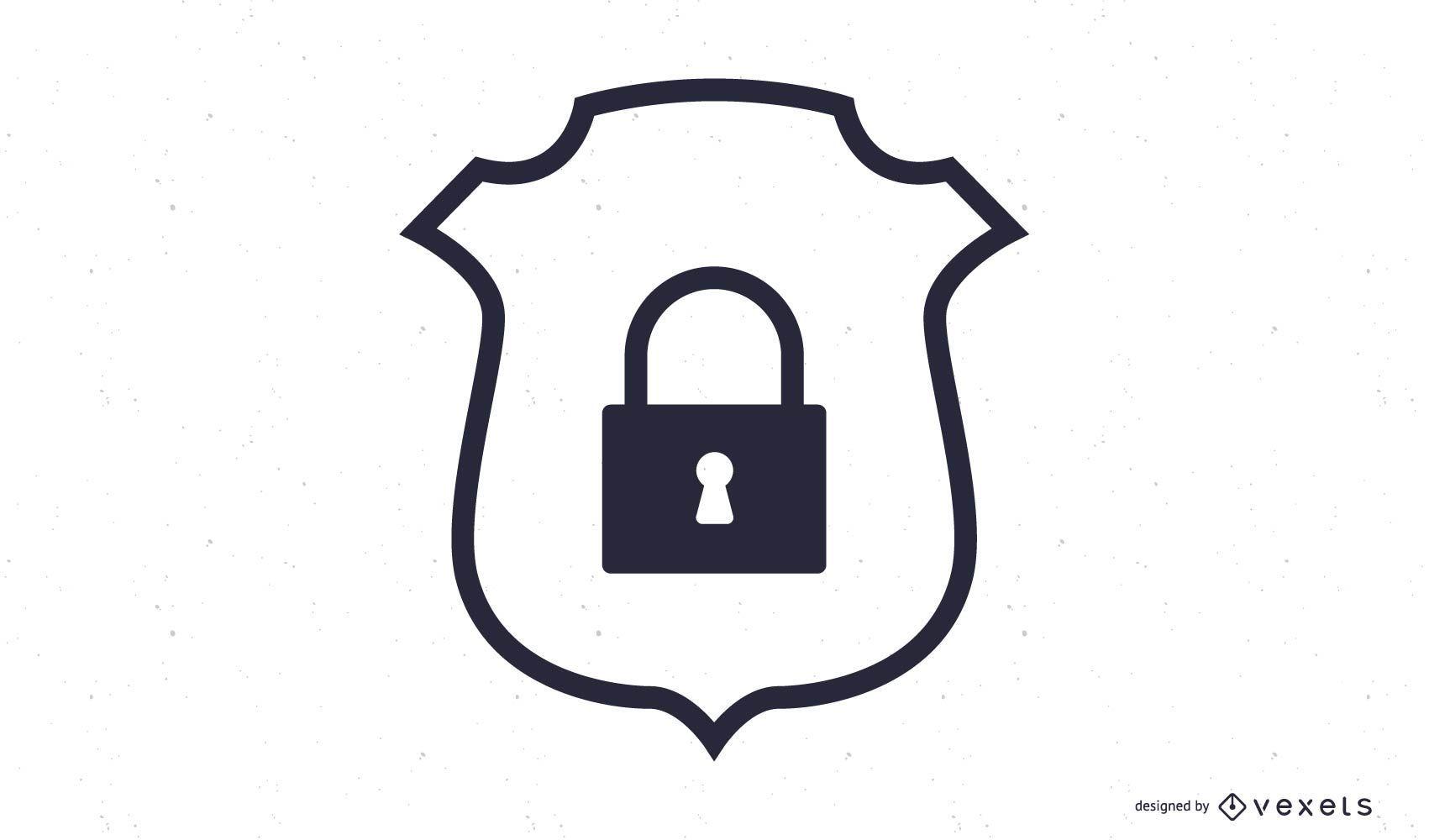 Icono de insignia de seguridad