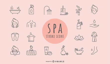 Spa Elements Stroke Icons