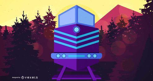 Ilustração de veículo de trem