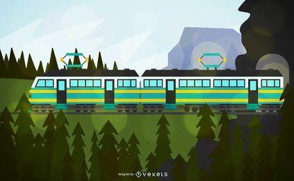 Kabelzug Fahrzeug Illustration