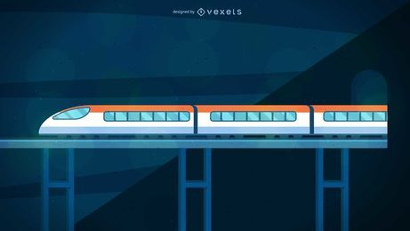 Bullet Train Illustration