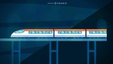Ilustración de tren bala