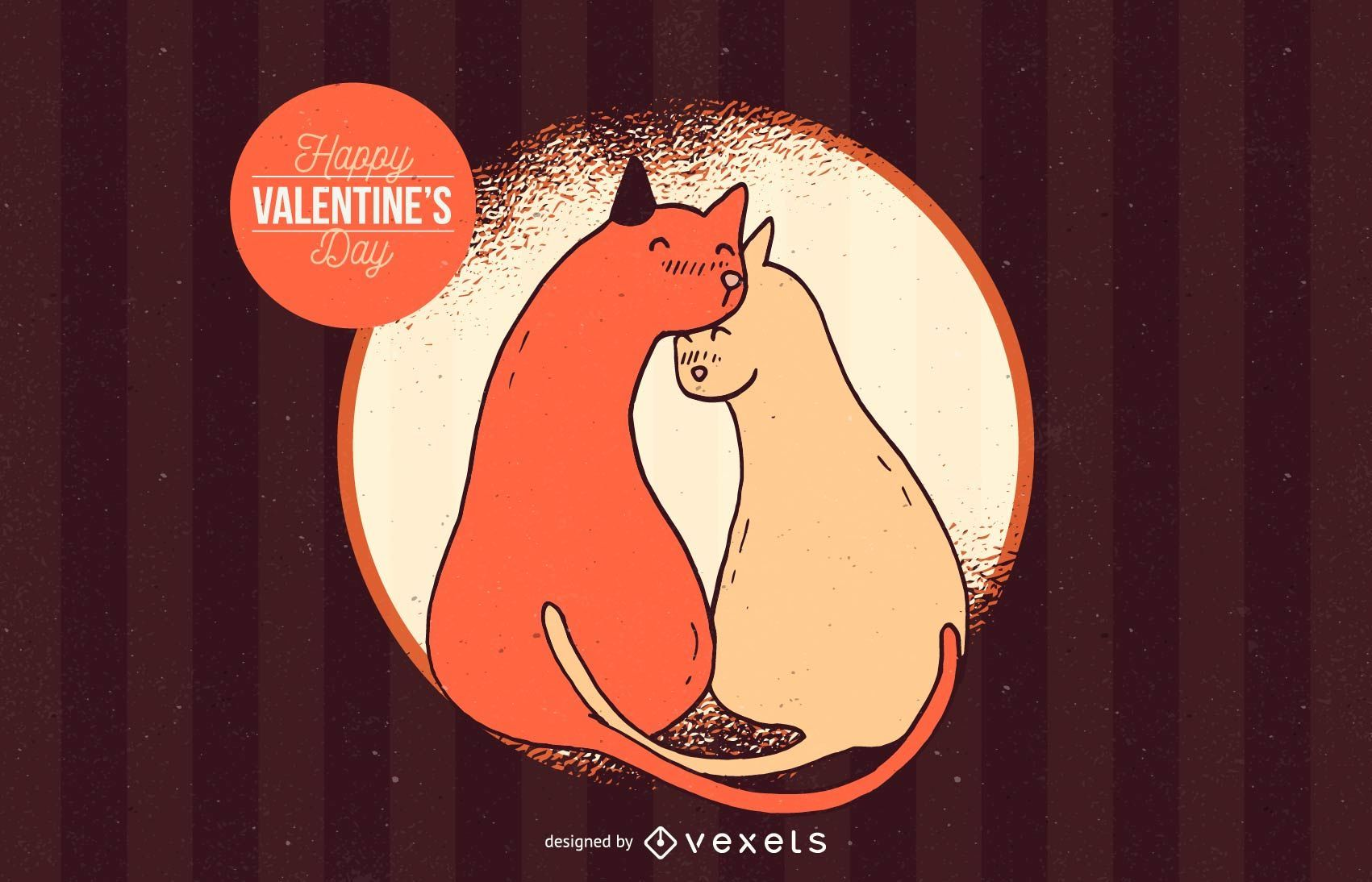 Cal Valentines Day Illustration