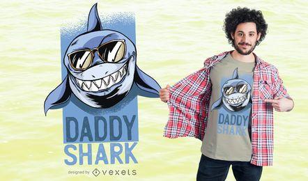 Projeto do t-shirt do tubarão do paizinho
