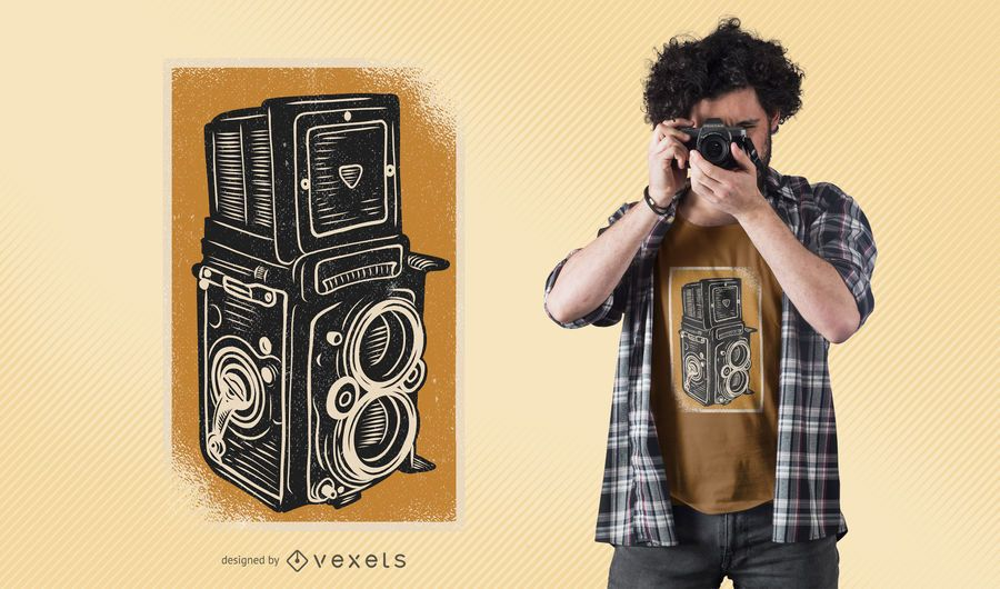 Design de t-shirt vintage Rolleiflex Camera