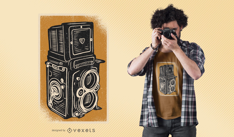 Diseño de camiseta Vintage Rolleiflex Camera