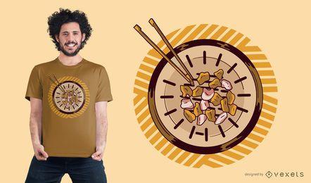 Projeto coreano do t-shirt de Samgyeopsal do BBQ