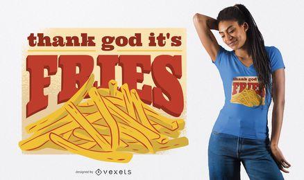 T.G.I.F. Fries T-Shirt Design