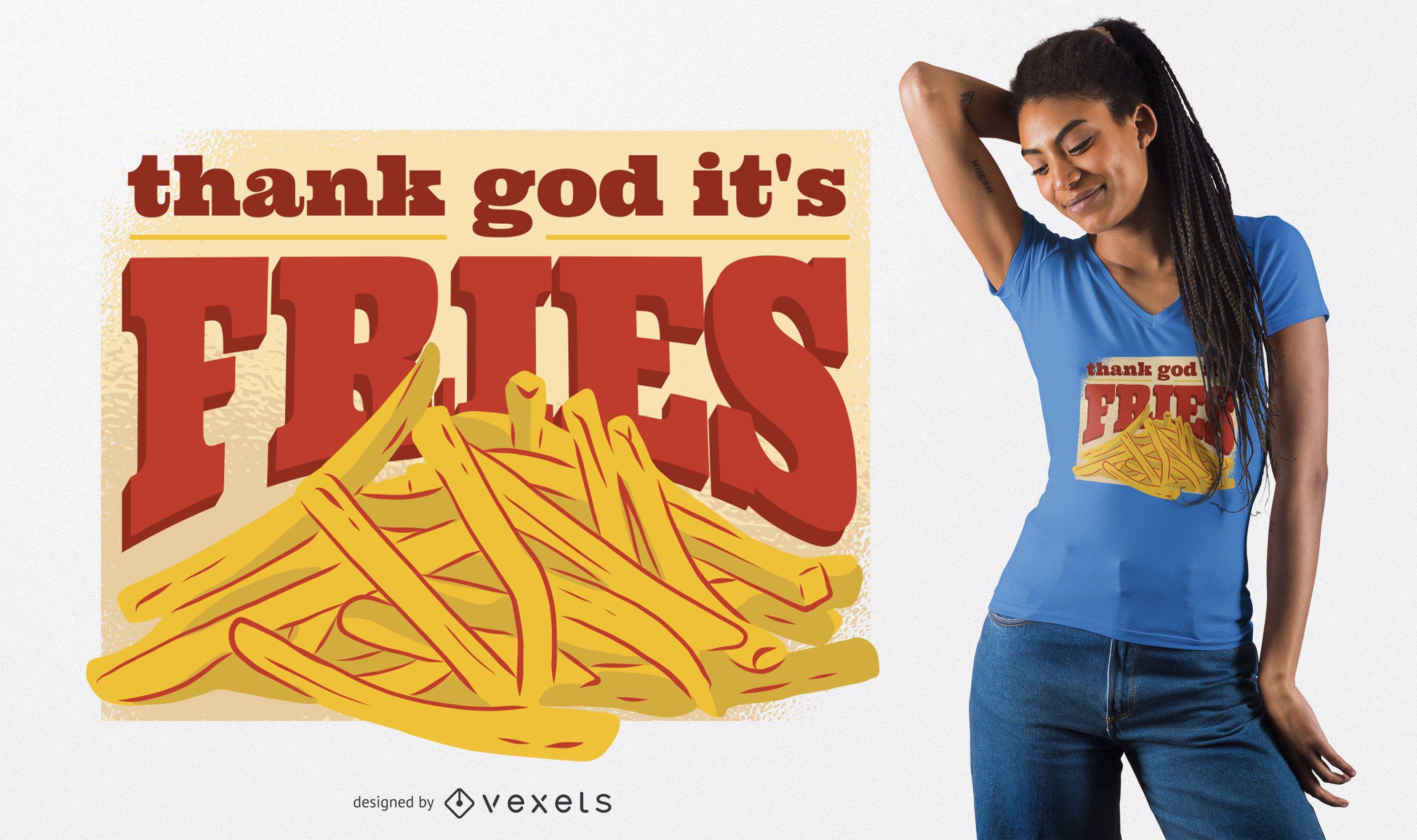 Design de camisetas TGIF Fries