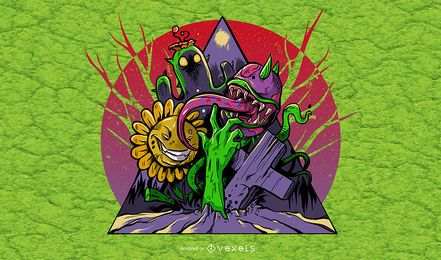 Plants & Zombies Illustration