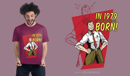 Vintage Vatertags-T-Shirt-Entwurf