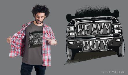 Diseño de camiseta de camión resistente