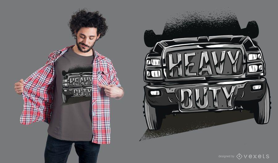 Heavy Duty Truck T-Shirt Design