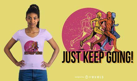 Diseño de camiseta de hombre corriendo