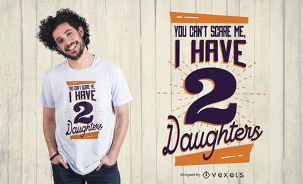 Projeto do t-shirt das filhas