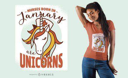 As enfermeiras são design do t-shirt dos unicórnios