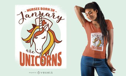 Krankenschwestern sind Einhörner T-Shirt Design