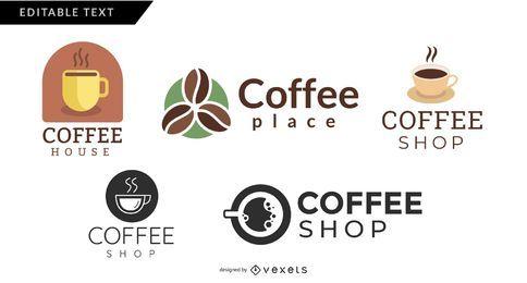 Coffee-Shops-Logo gesetzt