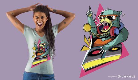 Diseño de camiseta Bear DJ