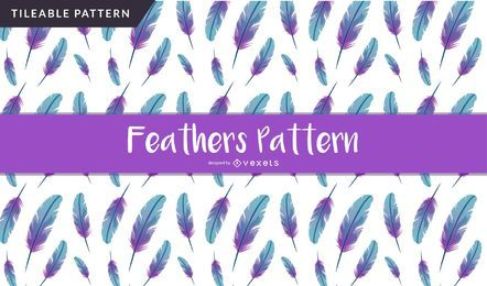 Gradient feathers seamless pattern