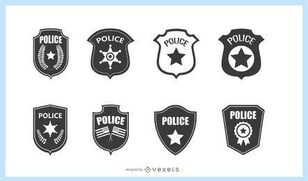Conjunto de distintivo de polícia