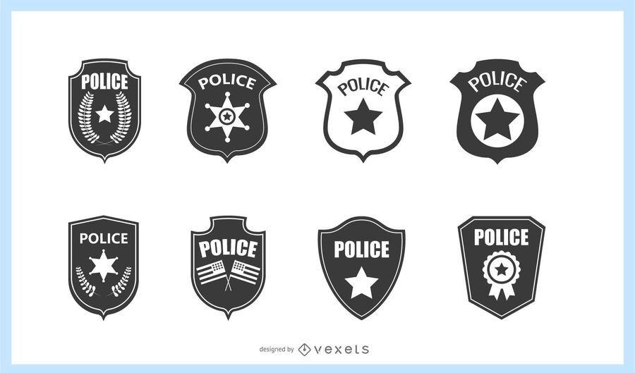 Conjunto de placas de policía