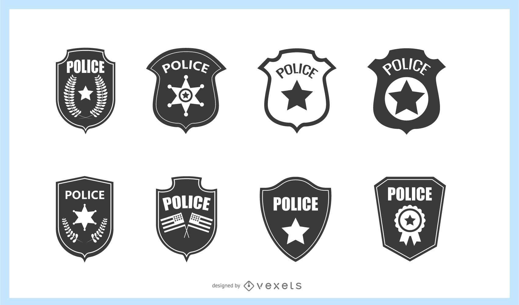Conjunto de placa de policía