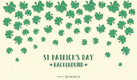 Fundo de desenhos animados de Saint Patricks Day