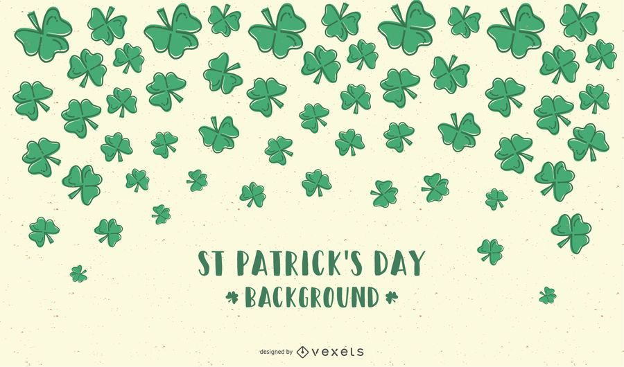 Saint Patricks Day Clovers Background