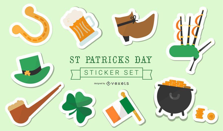 St Patrick's Day Sticker Set