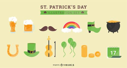 St. Patrick's Day Abbildung Set