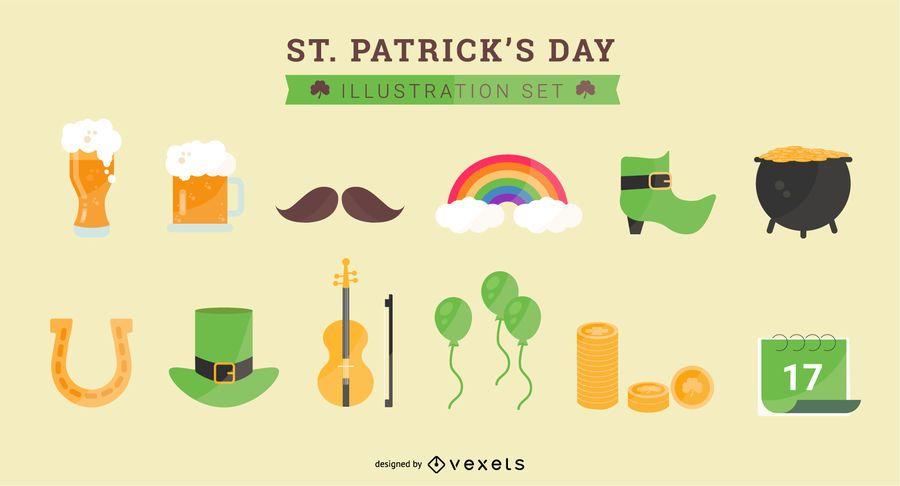 Saint Patrick's Day Illustration Set